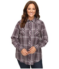Roper Plus Size 0434 Royal Plaid Black Women's Clothing