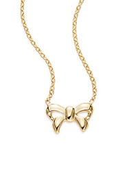 Royal Chain 14K Yellow Gold Mini Bow Pendant Necklace