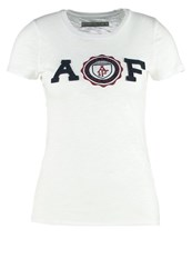 Abercrombie And Fitch Core Print Tshirt Fence White
