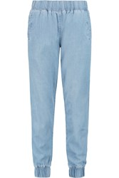 Current Elliott The Jogger High Rise Tapered Jeans Blue