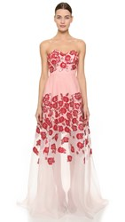 Lela Rose Strapless Gown Pink
