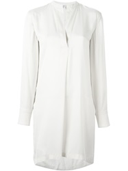 Helmut Lang Longsleeved Tunic Nude And Neutrals