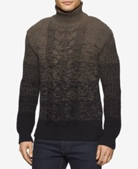 Calvin Klein Jeans Men's Ombre Turtleneck Sweater Black