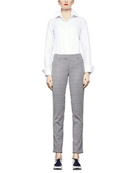 Pink Tartan Elizabeth Pants Black Cream