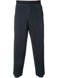 Homme Plisse Issey Miyake Pleated Cropped Trousers Green