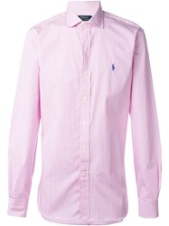 Polo Ralph Lauren Striped Button Down Shirt Pink And Purple