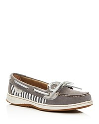 Sperry Angelfish Striped Boat Shoes Gray