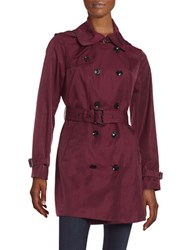 Michael Kors Double Breasted Trench Coat Burgundy