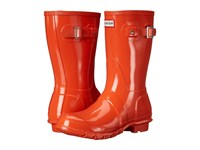 Hunter Original Short Gloss Tent Red Women's Rain Boots Orange