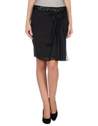 Philosophy Di Alberta Ferretti Knee Length Skirts Black