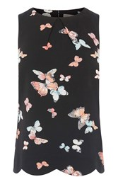 Oasis Butterfly Scallop Shell Top Black Multi