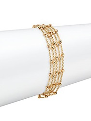Roberto Coin Pallini Faceted 18K Yellow Gold Bead Chain Bracelet