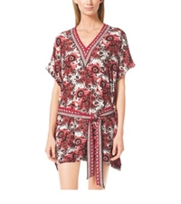 Michael Kors Paisley V Neck Tunic Chili