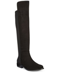 Rampage Izo Over The Knee 50 50 Boots Women's Shoes Black Suedette