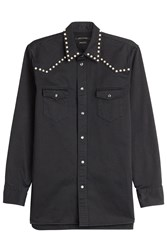 Marc Jacobs Embellished Cotton Shirt Black