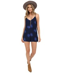 Obey Raven Playsuit Navy Multi Women's Jumpsuit And Rompers One Piece Blue