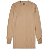Rick Owens Drkshdw Long Sleeve Level Tee Neutrals