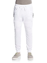 American Stitch Cargo Jogger Pants White