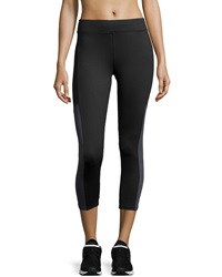 Xcvi Contrast Panel Cropped Leggings Black Charcoal