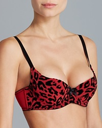 L'agent By Agent Provocateur Bra Lucila Padded Push Up Balconette L038 12 Red