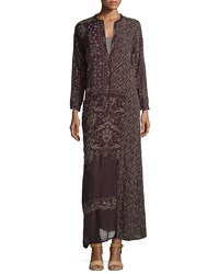 Johnny Was Long Sleeve Embroidered Maxi Dress Black