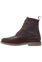 Guess Bastian Laceup Boots Deep Brown Dark Brown