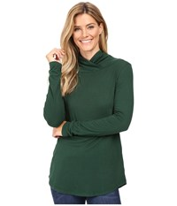 Mod O Doc Supreme Jersey Slouchy Crossover Funnel Tunic Cypress Women's Clothing Green
