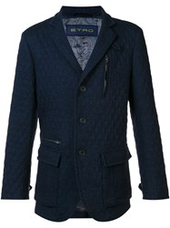 Etro Quilted Jacket Blue