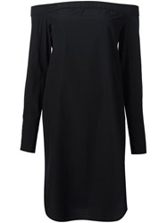Rag And Bone Off The Shoulder Shirt Dress Black