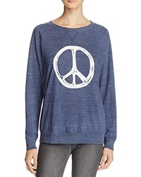 Nation Ltd. Ltd Peace Sign Raglan Sweatshirt 100 Bloomingdale's Exclusive Navy White