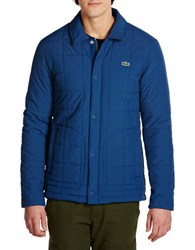 Lacoste Long Sleeve Quilted Jacket Blue