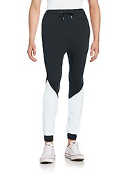Zanerobe Tracker Two Tone Jogger Pants Black White