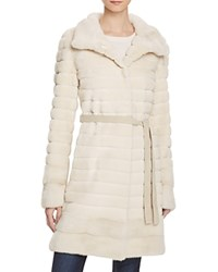 Maximilian Furs Grooved Sheared Mink And Long Hair Mink Fur Coat Bloomingdale's Exclusive Pearl