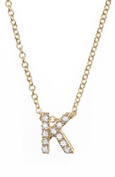Bony Levy Women's Pave Diamond Initial Pendant Necklace Nordstrom Exclusive Yellow Gold K