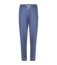 Stefano Ricci Contrast Trim Cashmere Silk Lounge Pants Male Blue