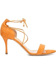 Rupert Sanderson Ankle Strap Sandals Yellow And Orange