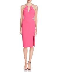 Aqua Cutout Dress Hot Pink