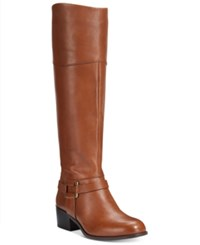 Alfani Women's Biliee Riding Boots Only At Macy's Women's Shoes Cognac