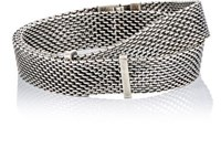 Title Of Work Men's Double Wrap Bracelet Silver