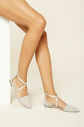 Forever 21 Faux Suede Strappy Flat