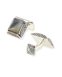 Square Mother Of Pearl Cuff Links Stephen Webster White