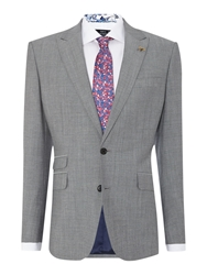 New And Lingwood Foxglove Peak Lapel Suit Jacket Grey