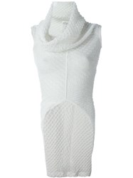 Junya Watanabe Comme Des Gara Ons Cowl Neck Knit Top White