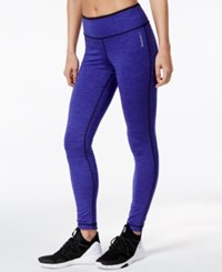 Reebok Reversible Speedwick Leggings Ultra Purple Black