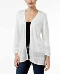 Jm Collection Petite Open Front Cardigan Only At Macy's Winter White