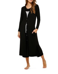 Ellen Tracy Yours To Love Long Cardigan Black