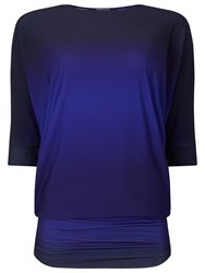 Phase Eight Ombre Beth Tunic Top Blue