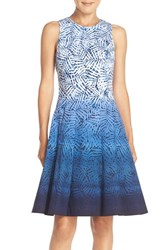 Women's Maggy London Ombre Print Fit And Flare Dress