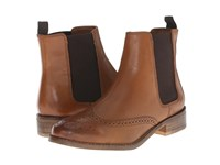 Dune Quentin Tan Leather Women's Pull On Boots