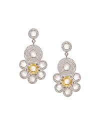 Opera Crystal And Diamond Flower Earrings Coomi